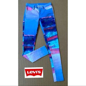 Levi's women colorful skinny jeans W25 L30 Unique